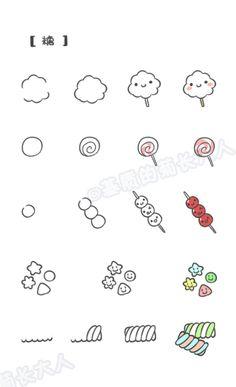 如何画萌萌哒食物---糖,来自@基质的菊长大人