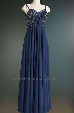 Lang donkerblauw sweetheart model 3039
