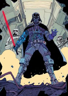 """Tagged with art, cyberpunk, scifi, science fiction, artwork; The cyberpunk art of Josan Gonzalez - """"The Future is now"""" Star Wars Books, Star Wars Characters, Star Wars Art, Darth Vader, Anakin Vader, Walt Disney Pictures, Star Wars Poster, Character Art, Character Design"""