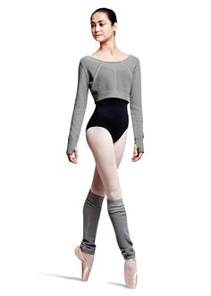 Bloch Galia Textured Open-Knit Crop Sweater