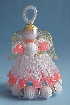 Angel with tri beads