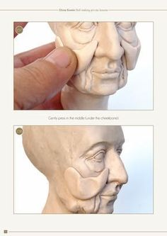 How to make a doll head 340 photos and 4 videos demonstrate all the stages of sculpting. In this part I explain how to sculpt three different heads - a classical girl, an old characte Polymer Clay Figures, Polymer Clay Sculptures, Polymer Clay Dolls, Polymer Clay Projects, Sculpture Clay, Clay Crafts, Polymer Clay People, Ceramic Sculptures, Bronze Sculpture