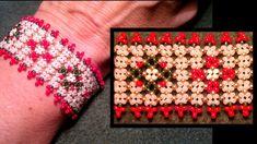 Beading4perfectionists : Pondo stitch Christmas bracelet advanced beadin... Seed Bead Jewelry, Beaded Jewelry, Beaded Bracelets, Jewellery, Seed Bead Projects, Beading Projects, Free Beading Tutorials, Video Tutorials, Bracelet Tutorial