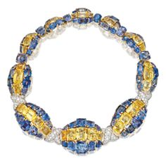 18 Karat Gold, Platinum, Colored Sapphire and Diamond Necklace, David Webb, Circa 1950 - Sotheby's