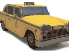 Simple Taxi Paper Car Free Vehicle Paper Model Download