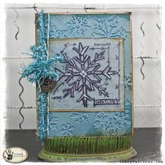 Snowflake Blueprint Christmas Card