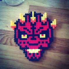 Darth Maul Star Wars hama beads by natalie_kirk_tlr