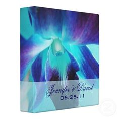 The Blue Orchid Wedding Binder - shall I order it now? These are our flowers!!!