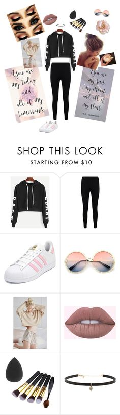 """All I'll ever need!!"" by lologray ❤ liked on Polyvore featuring Boohoo, adidas, ZeroUV, LA: Hearts and Carbon & Hyde"