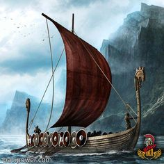 Illustration of two viking longboats. The ships have been modeled in Blender … – Norse Mythology-Vikings-Tattoo Viking Warrior, Viking Life, Viking Art, Viking Woman, Blender 3d, Ship Illustration, Guerrero Dragon, Viking Longboat, Viking Longship
