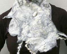 natural wool scarf