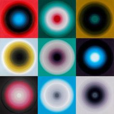 Yan Lei, Colour - Wheel on ArtStack Angela Carter, Op Art, Optical Illusions, Images, Dots, Abstract, Colour Wheel, Inspiration, Color