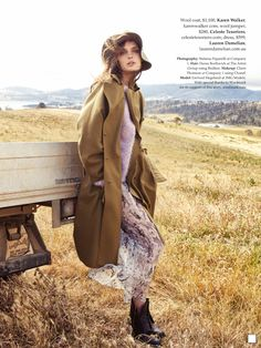 New Fashion Editorial Vogue Boho Ideas Farm Fashion, Country Fashion, Fashion Shoot, Editorial Fashion, New Fashion, Trendy Fashion, Fashion Models, Autumn Fashion, Fashion Outfits