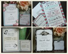 Some of our flat printed invitation designs