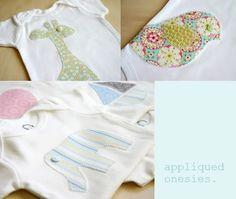 applique onesies! baby