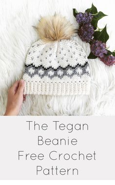 Free Tapestry Crochet Beanie pattern for the Tegan Beanie! Color Chart is provided as well as written instructions. Tutorials included for colorwork and Waistcoat stitch! Such a versatile pattern and makes the perfect gift! Tapestry Crochet Patterns, Crochet Beanie Pattern, Crochet Stitches, Knitting Patterns, Crochet Hat Size Chart, Hat Patterns, Easy Knitting, Crochet Gifts, Crochet Baby