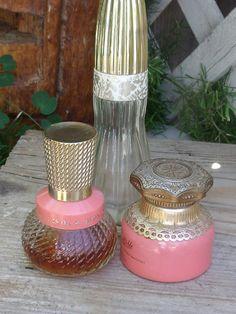 Avon Unforgettable Cologne Bottle | ... of Avon Unforgettable Cologne Glass Bottles and Jar - Gold & Coral