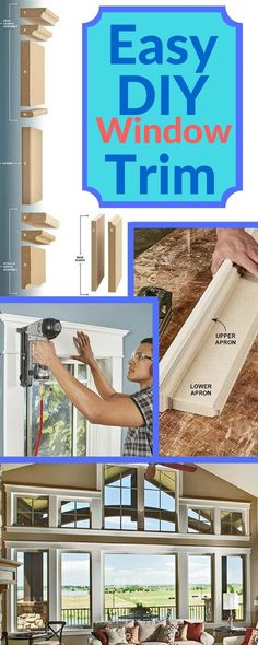 """on't let the elegant look fool you. This trim is actually easier than the standard """"picture frame"""" trim used in most homes since the 1950s. There are no fussy miters to give you fits, just simple 90-degree butt joints. You can do most of the assembly on a workbench and then simply nail the parts to the walls. And since the trim is painted, you can hide small gaps with caulk. http://www.familyhandyman.com/carpentry/trim-carpentry/intalling-window-trim-the-easy-way-mdf-trim-molding/view-all"""