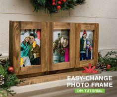 Whether you're giving it as a gift or keeping it for yourself, this easy-change photo frame craft is a great way to show off photos all year long. 4x6 Prints