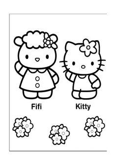 Hello Kitty Kleurplaten voor kinderen. Kleurplaat en afdrukken tekenen nº 15