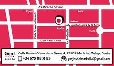 Genji Sushi Bar Marbella is located at the heart of Marbella city, Spain
