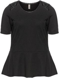 Zhenzi Plus Size Peplum jersey t-shirt