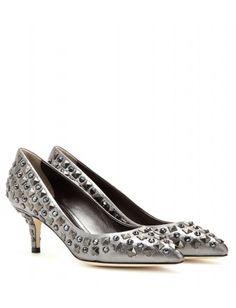 Dolce & Gabbana - Bellucci embellished leather pumps