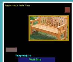 Garden Bench Table Plans 160608 - The Best Image Search