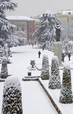 El Retiro under Snow - Madrid, Spain