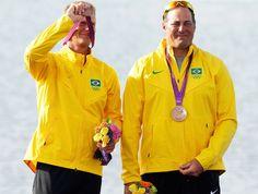 Robert Scheidt e Bruno Prada - medalha de bronze