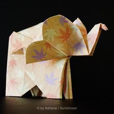 Check out all the finished projects. Beautiful delicate flowers, colorful animals and even some fashionable items. Origami Elephant, Elephant Elephant, Origami Animals, Colorful Animals, Delicate, Gallery, Flowers, Projects, Log Projects