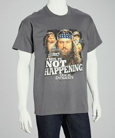 Take a look at this Charcoal 'Not Happening' Tee - Men by Club Red on #zulily today!