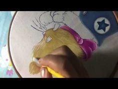 Pintura en tela sombras y luces, chapitas, rostro niña Orquidea marimur parte uno 694 - YouTube