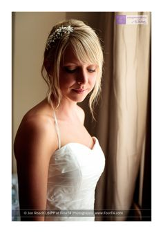 Bridal portrait, East Close Hotel near Christchurch