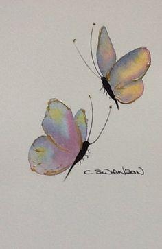 Butterfly sketch Watercolour 4 x 6