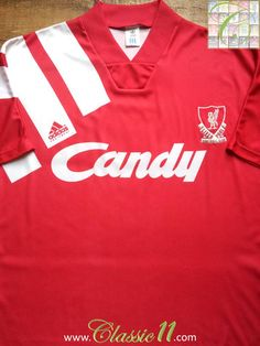 Relive Liverpool's 1991/1992 season with this vintage Adidas home football shirt.