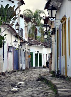 The streets of Paraty, Brazil