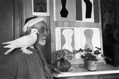 """Henri Cartier-Bresson - Vence. February 1944. Henri MATISSE at his home, villa """"Le Rêve""""."""