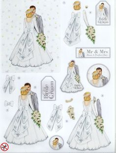 3D Die Cut Decoupage  WHITE WEDDING  (DCD531)
