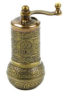Ottoman Pattern Hand Mill Turkish Coffee Grinder / Turkish Copper / Turkish Pepper Grinder / Turkish Home Decor