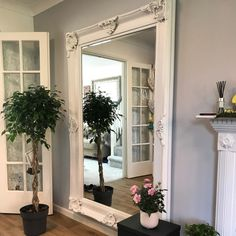 Floor mirrors – William Wood Mirrors Ornate Mirror, My Mirror, White Mirror, Wood Mirror, Beveled Mirror, Finishing Materials, Beautiful Mirrors, Wooden Frames, Wall Mount