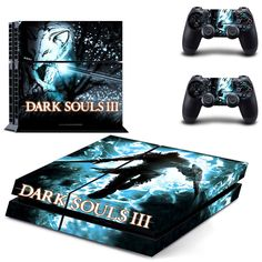 dark souls 3 new design skin decal for ps4 console and controllers