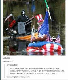 Big pumpkin floats