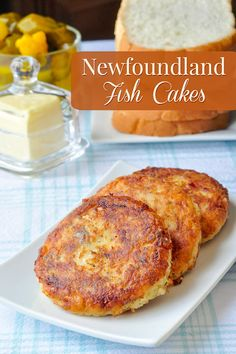 These traditional Newfoundland fish cakes have been made for countless generations using the most basic of ingredients like potatoes salt fish and onions. Check the recipe page for a new twist that turns them into Eggs Benedict for your weekend brunch! Rock Recipes, Fish Recipes, Seafood Recipes, Cake Recipes, Cooking Recipes, Recipies, Cooking Games, Baked Fish Cakes Recipe, Fish Dishes