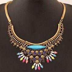 Vintage Ethnic Floral Design Necklace
