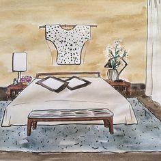 "Gefällt 19 Mal, 1 Kommentare - Tanja Künzler (@tanja.kuenzler) auf Instagram: ""#weekenddrawing #bedroom #drawing #interiorstyling"" Interior Styling, Drawing, Table, Furniture, Instagram, Home Decor, Drawing Room Interior, Homemade Home Decor, Sketch"