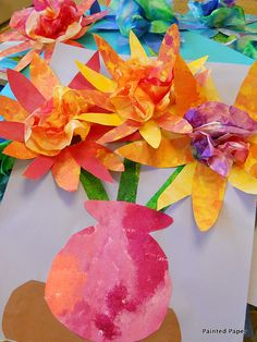 Painted Paper Coffee Filter Flowers by paintedpaper, via Flickr