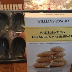 Momma knows Ashe and I love madelines so she got me this pan and mix!! These go very well with coffee.