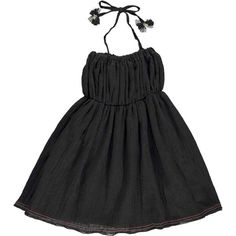 Atsuyo Et Akiko Gauze Dress, Black - shopminikin