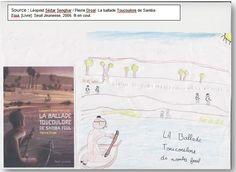 """Couverture réalisée par Farès à partir du livre """"La ballade Toucouloré"""" de Léopold Senghar. Pour voir mon livre, il faut cliquer sur mon dessin."""